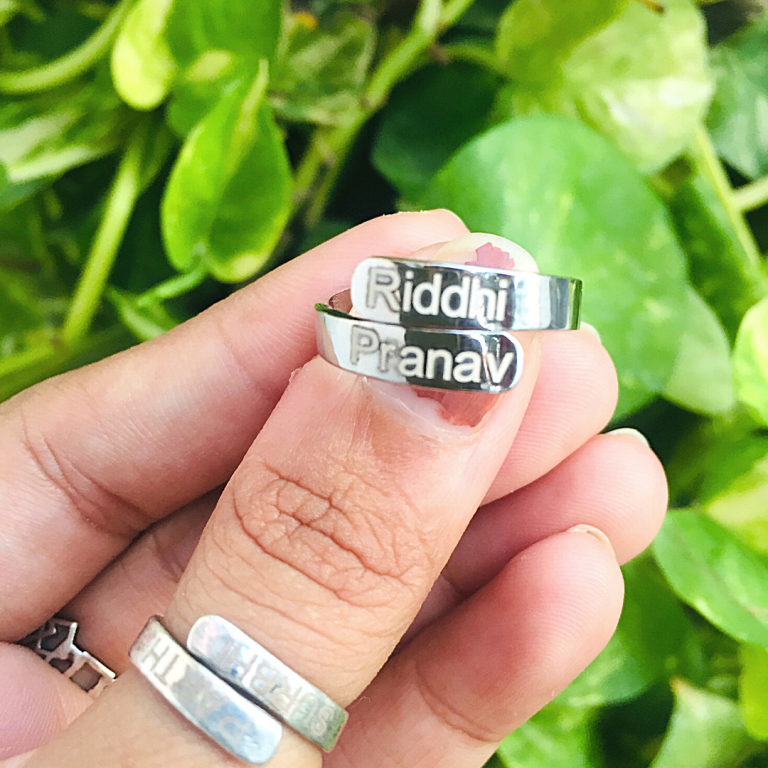 Best Customized Name Ring with 92.5 Hallmarked Silver India 2021